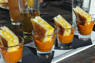 Grilled Cheese Mac & Cheese in Shots of Tomato Soup | by sheryip