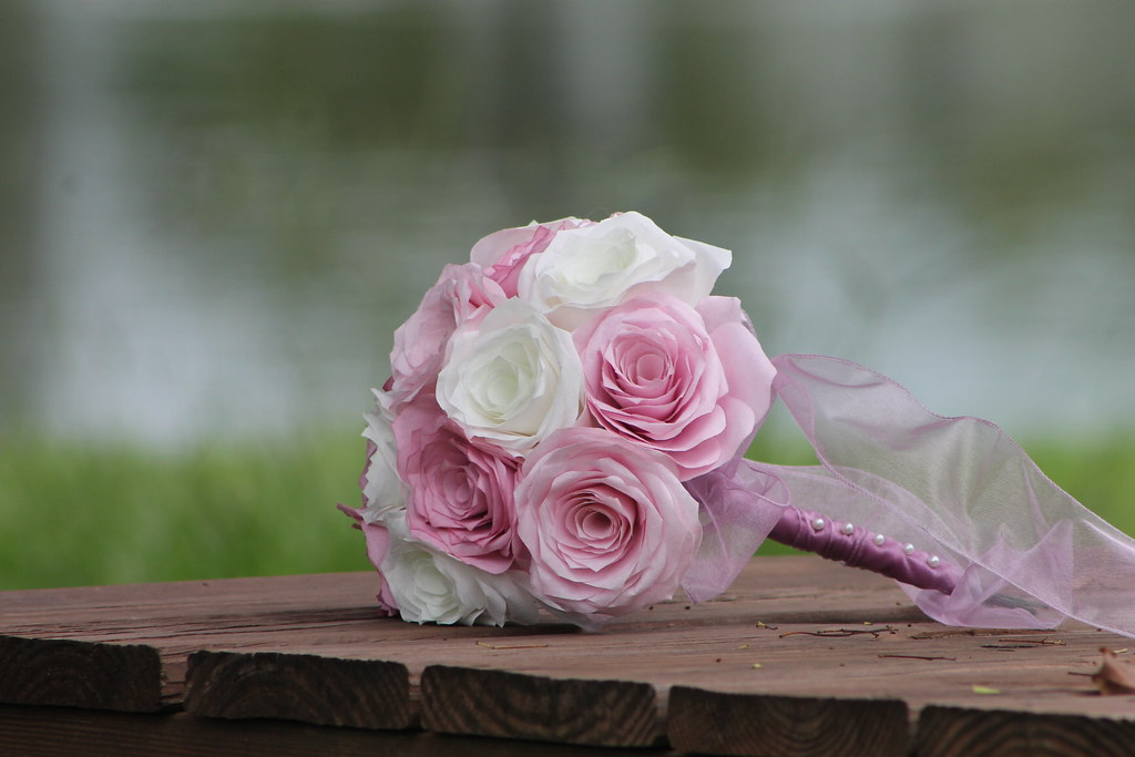 Coffee Filter Flower Wedding Bouquet