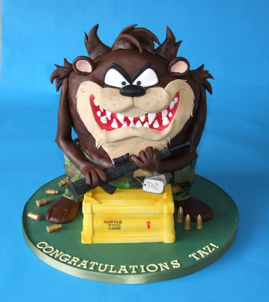 Taz Congratulations Cake This Order Was Quite A