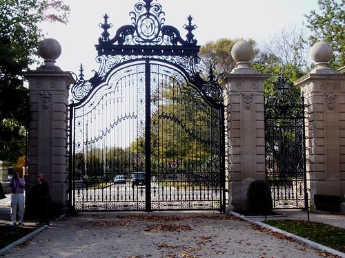 Wrought Iron Entrance Gates To The Vanderbilt Summer House