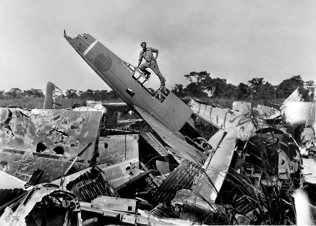 Wrecked Aircraft At Clark Field Luzon Philippines 1945 1