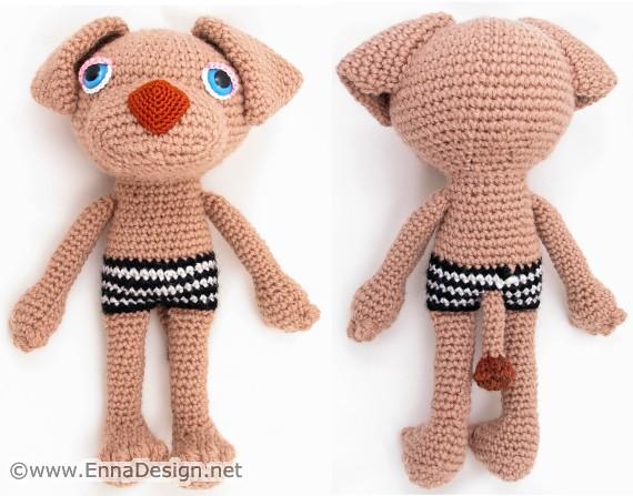 Amigurumi Joints : Amigurumi Sleepy-Eye Dog I created a new Amigurumi ...