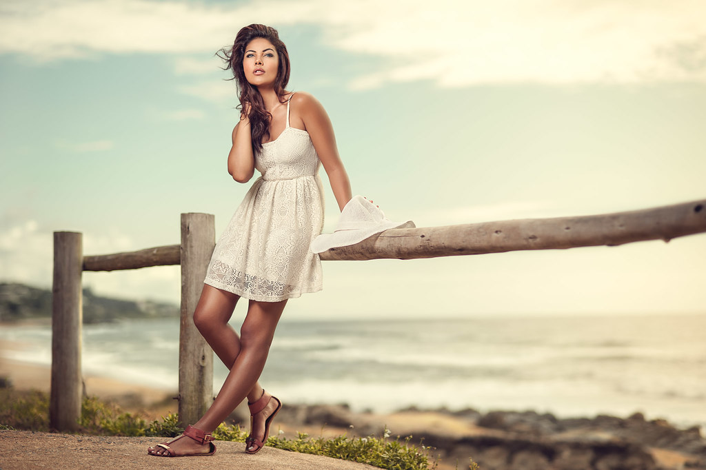 Suraya i recently went to the coast away from the fast - Beach girl wallpaper hd ...