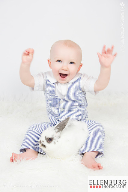 Happy Baby with Bunny