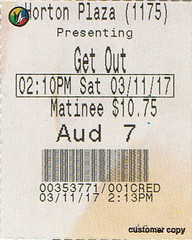 Get Out ticketstub