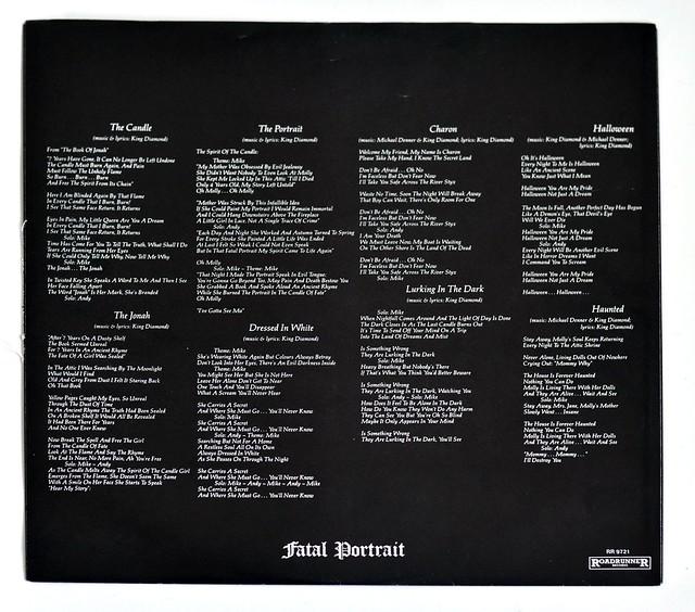 """A0356 King Diamond Fatal Portrait 12"""" vinyl lp"""