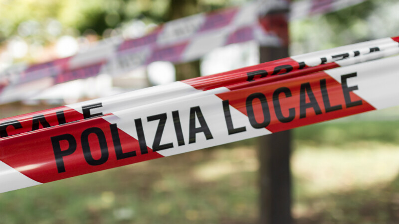 Police line in Italy
