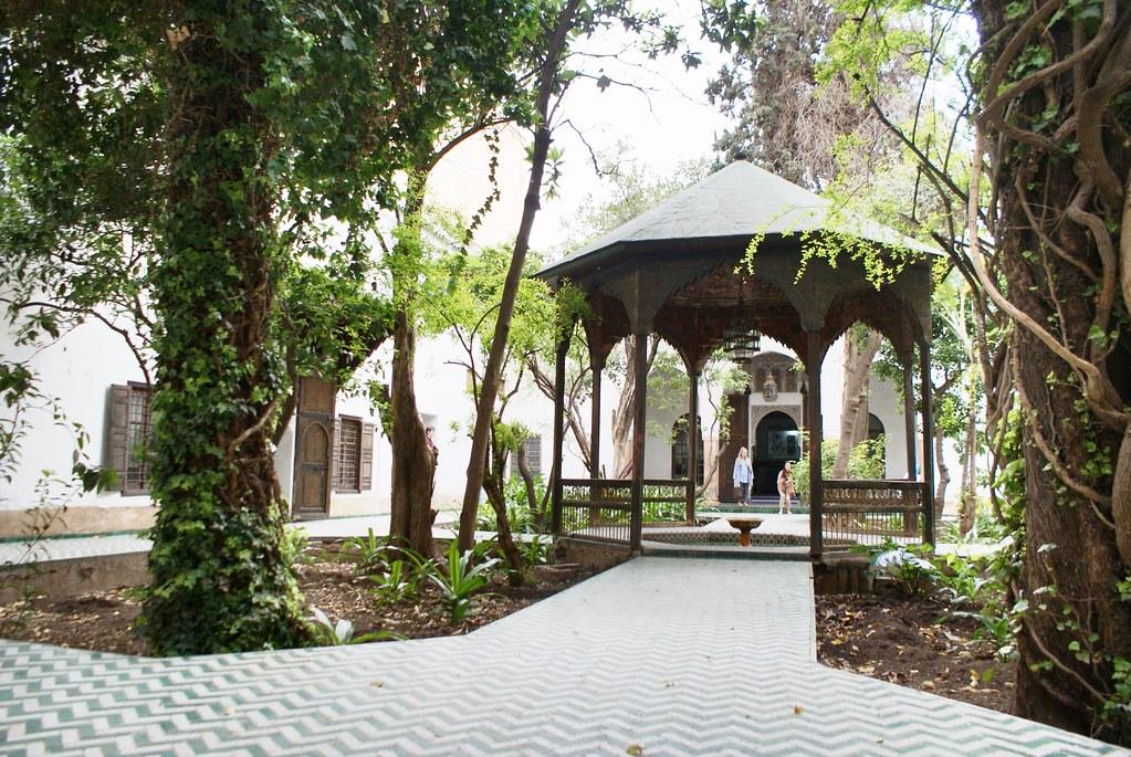Patio dans le musée Dar Si Said à Marrakech.