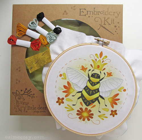 queen bee embroidery kit