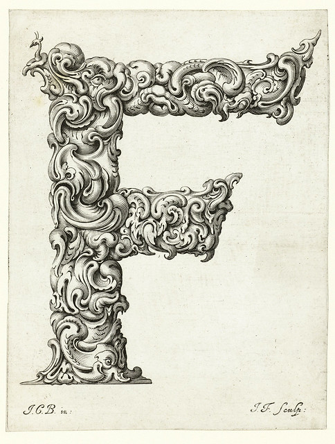 007- Letra F-Libellus Novus Elementorum Latinorum -J. C. Bierpfaff-  Rijksmuseum