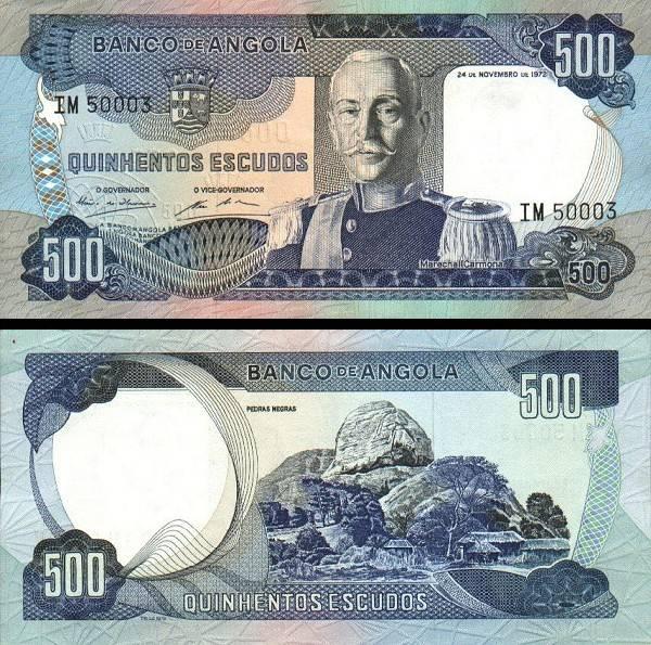 500 angolských escudos Angola 1972, P102