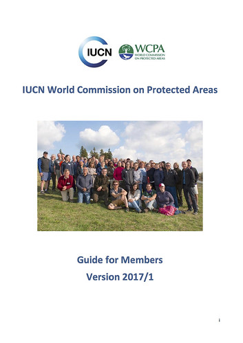 IUCN World Commission on Protected Areas (WCPA) Membership Guide (2017)