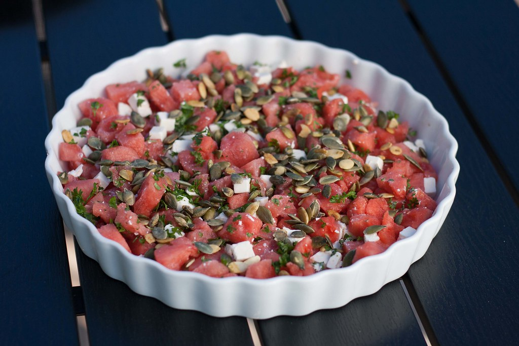 Recipe for Homemade Watermelon Salad