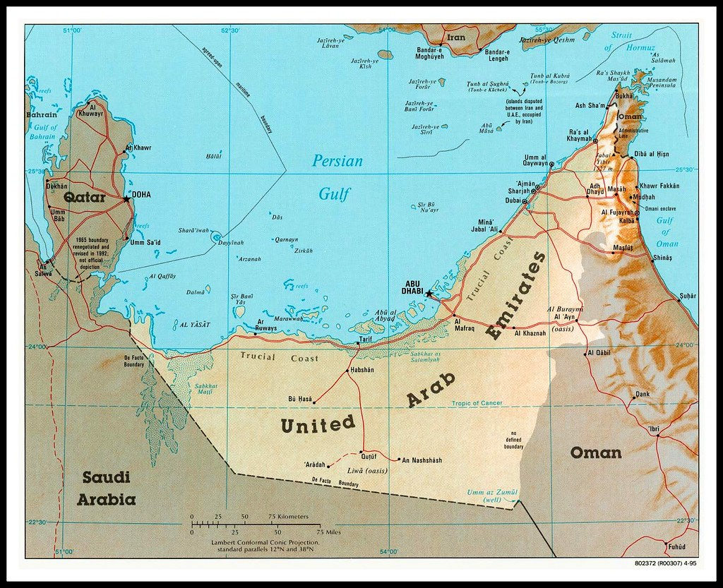 map showing liwa oasis in southern area of abu dhabi uae by desertblooms