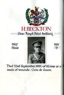Beckton, Harry (1893-1919) | by sherborneschoolarchives