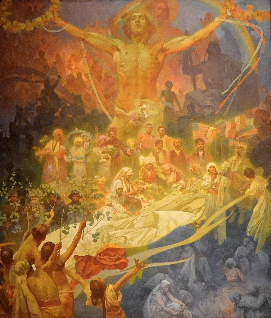 alfons mucha and the slav epic The slav epic is a series of twenty magnificent artworks by the czech art nouveau painter alphonse mucha the monumental artworks which comprise the series depict the history and mythology of the slavic civilization and people.