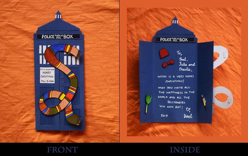 Tardis Christmas Card | Happy Who-lidays! (I'm bad at making… | Flickr