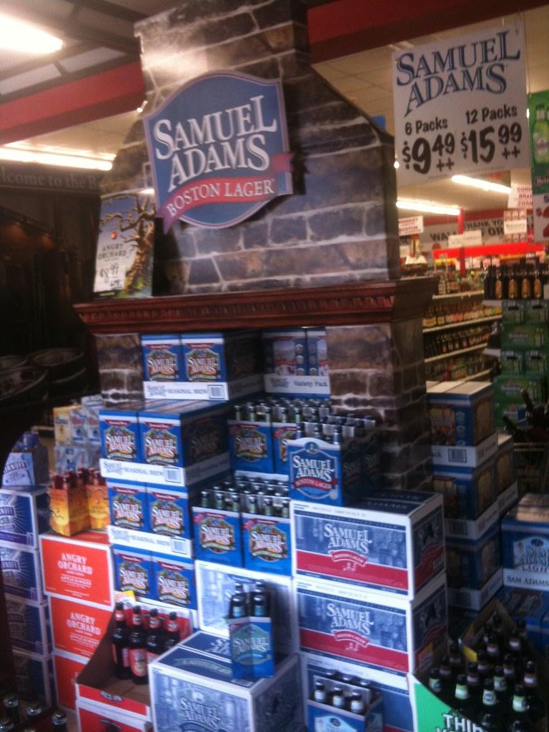 impressive samuel adams beer huge fireplace display flickr
