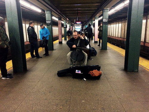 Cello Busker NY (April 3 2016)