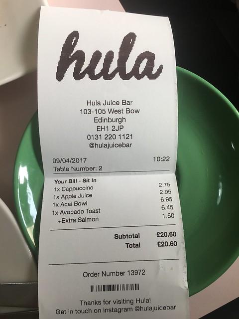 Edinburgh, Hula juice bar