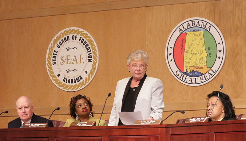 Governor Ivey attends State School Board meeting