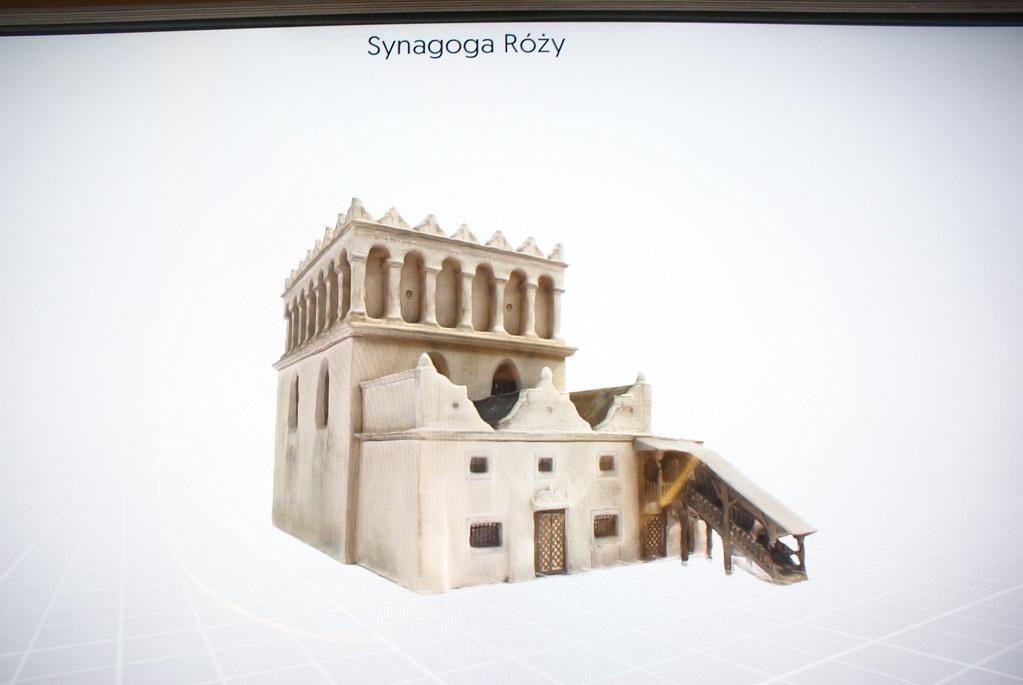 Représentation en 3D de batiments de Lwow, ici la synagogue des Roses détruite pendant la guerre.