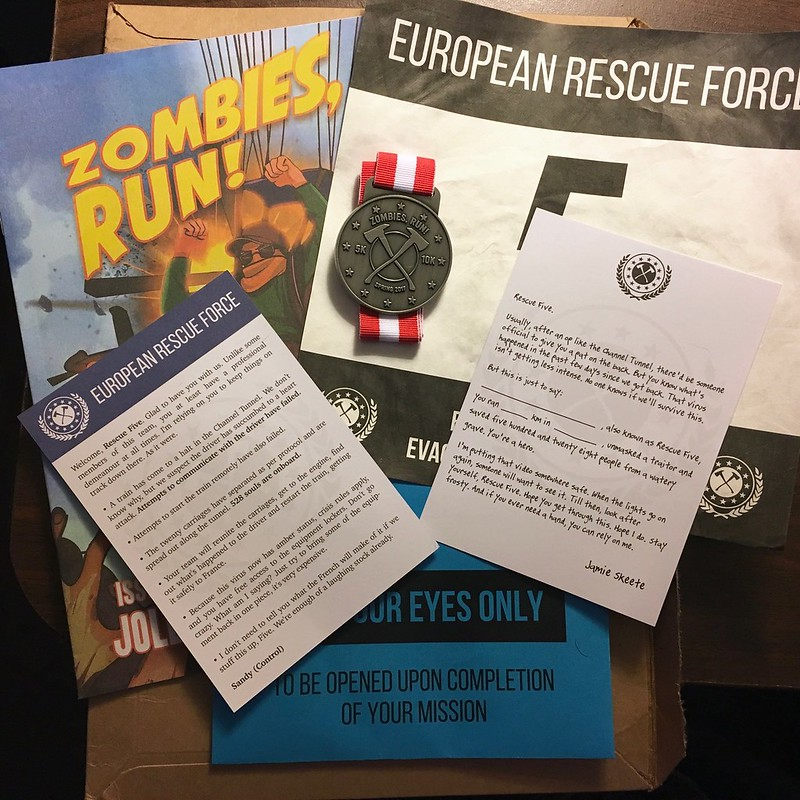 Zombies Run VR race packet contents