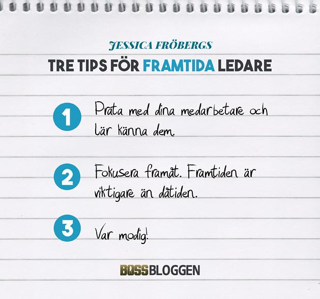 Tre Tips Jessica Fröbergs