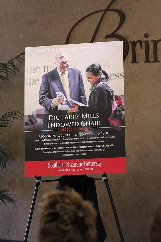 Dr. Larry Mills Endowed Chair Campaign