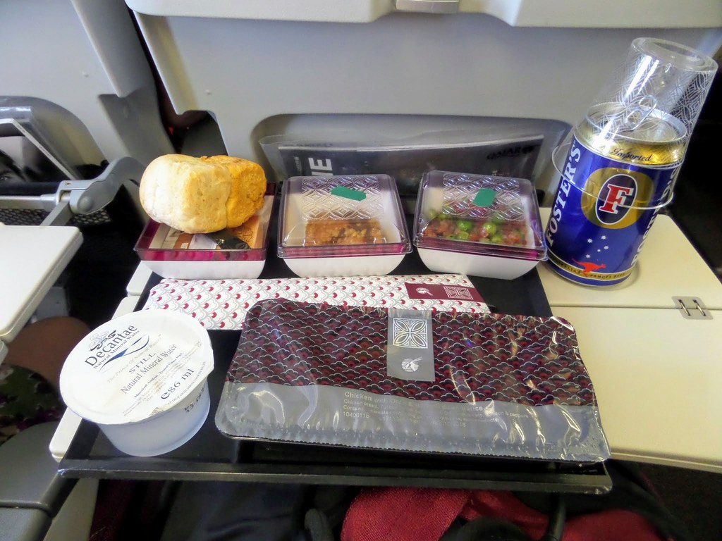 Qatar Airways meal