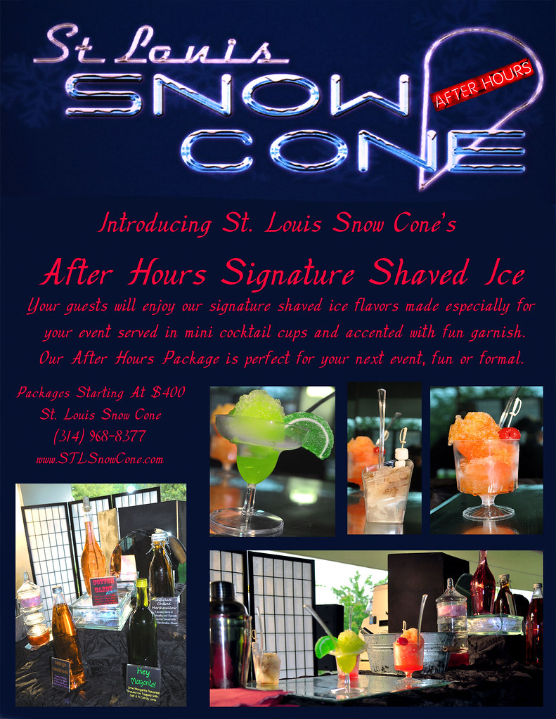 Slsc After Hours Flyer St Louis Snow Cone Flickr