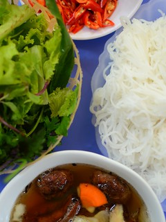bun cha table | by stickychopsticks