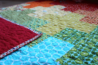 Rainbow Plus Baby Quilt | by CoraQuilts~Carla