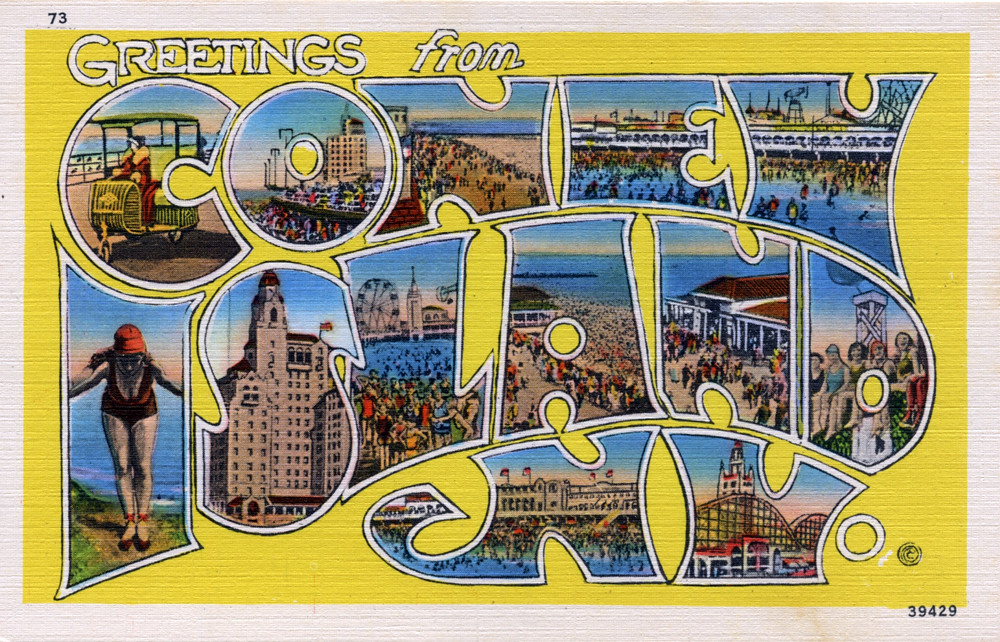 Greetings from coney island new york large letter postc flickr greetings from coney island new york large letter postcard by shook photos m4hsunfo