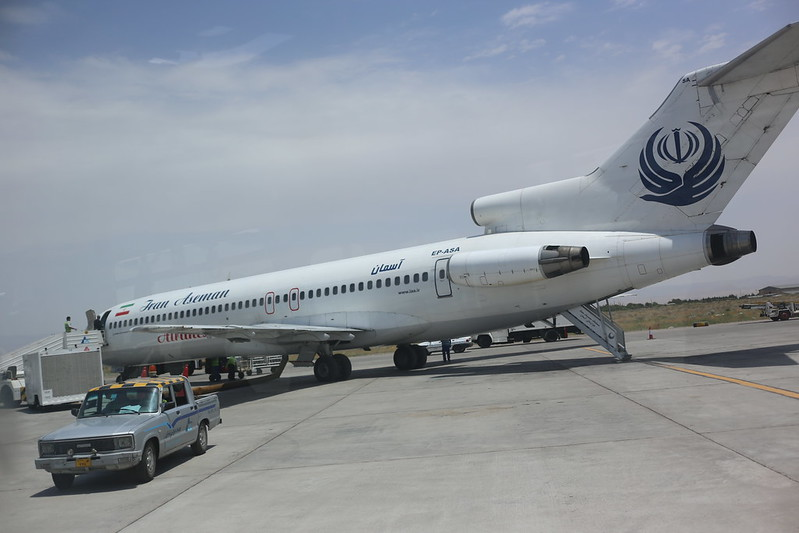 Flying with the B727 in Iran