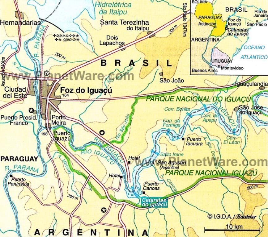 IMG001ArgentinaBrazilParaguayFoz Do Iguacu Map Flickr