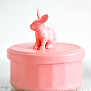 spray paint bunny in coral | by toriejayne