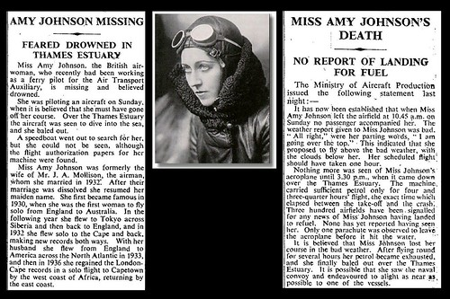 5th January 1941 - Death of Amy Johnson | by Bradford Timeline