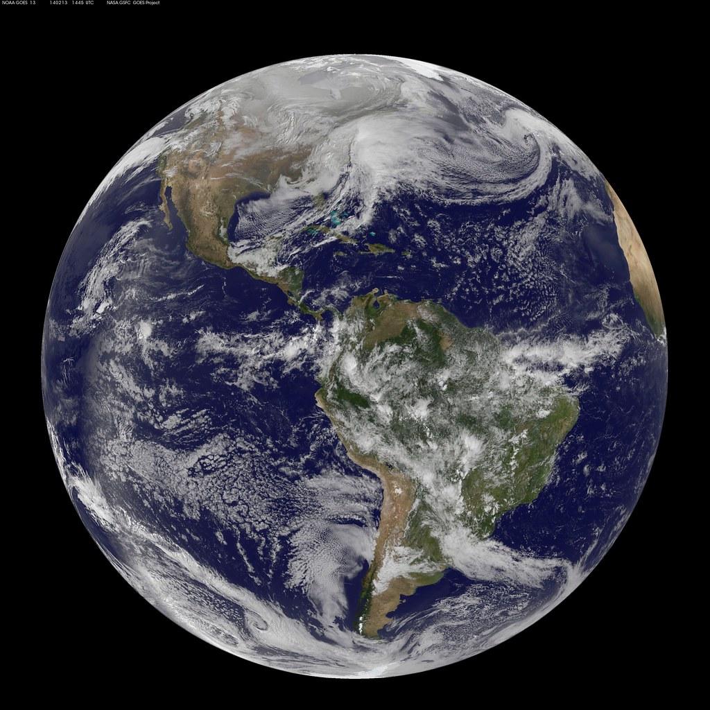 Satellite Views Powerful Winter Storm Battering Mid Atlant