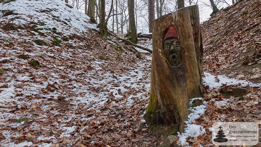 Holzgesicht in der Steckeschlääferklamm