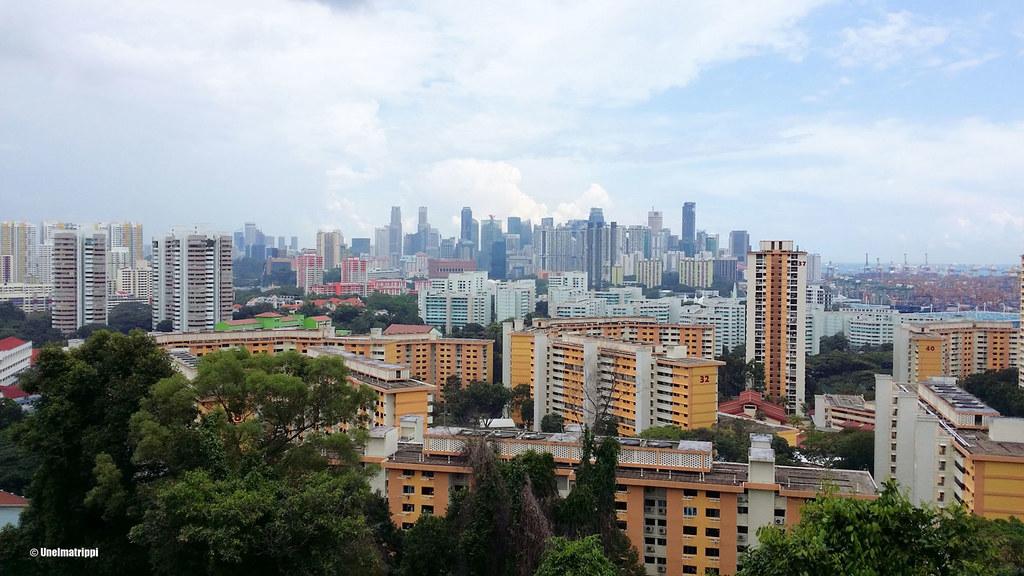 Kaupunkinäkymä Southern Ridges -reitin varrelta, Singapore