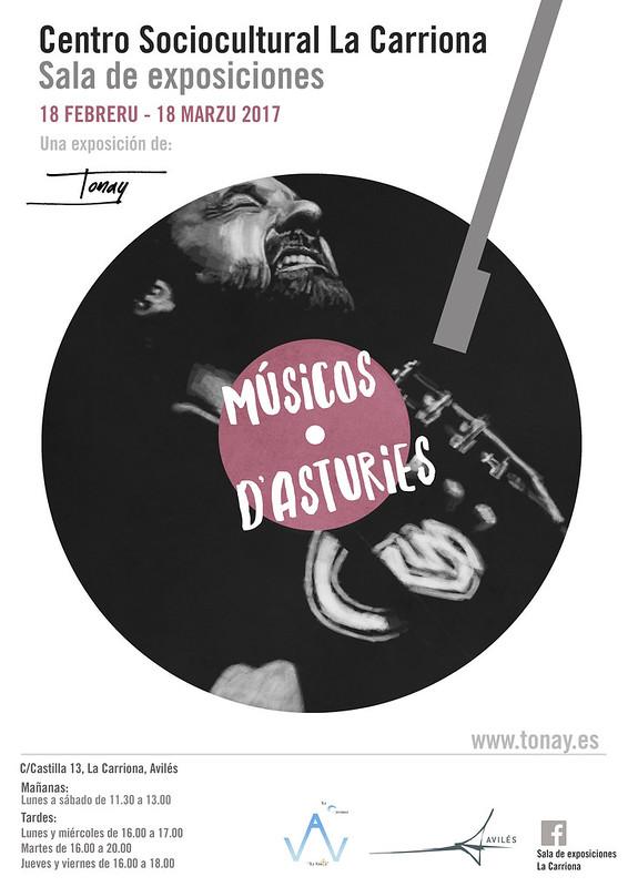 Cartel Músicos d'Asturies