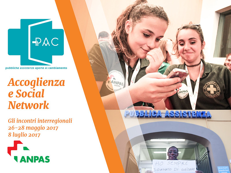Accoglienza e social network: a maggio e luglio i due incontri interregionali aperti a tutti i volontari Anpas.