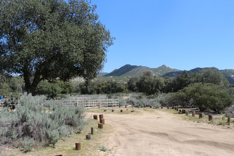 Horse corrals at the Boulder Oaks Equestrian Campground