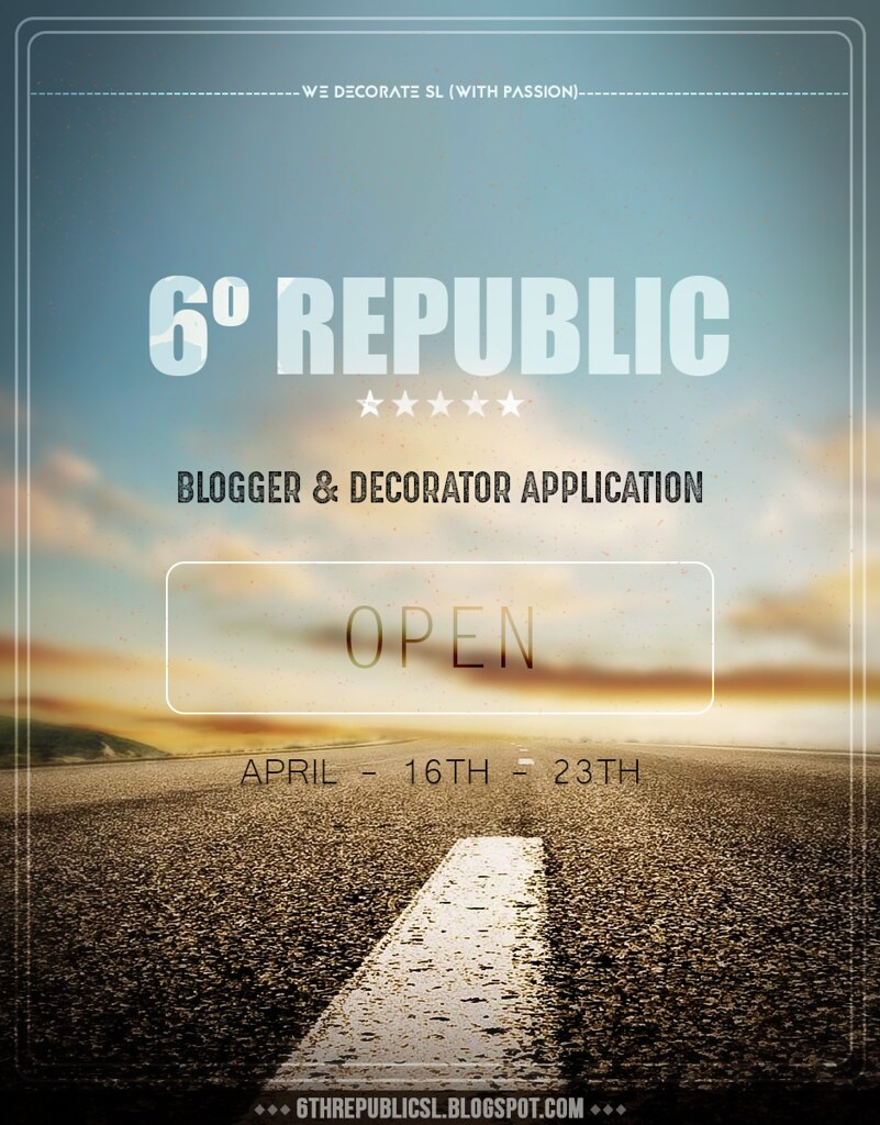 6º Republic Event: Blogger and Decorator Application