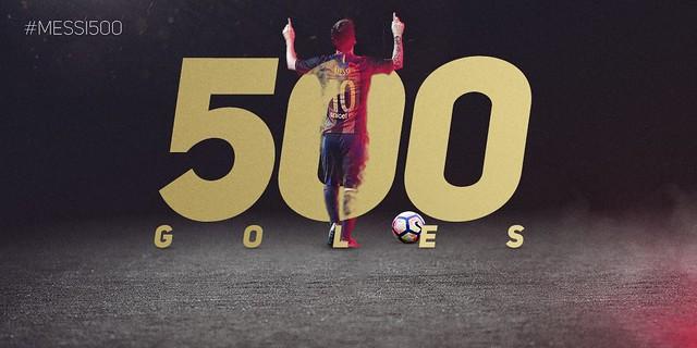 500 Goles de Messi con el FC Barcelona