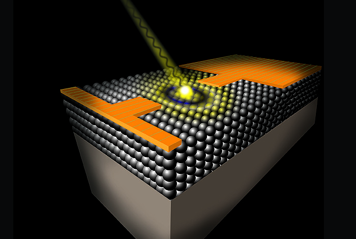 A femtosecond laser pulse launches a photocurrent transient in a quantum dot solid, which is time-resolved using ultrafast sampling electronics. This technique provides unprecedented insights into early time photoconductance in quantum dot assemblies for solar cells and photodetectors.