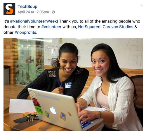 TechSoup Facebook - National Volunteer Week
