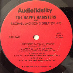 THE HAPPY HAMSTERS:THE HAPPY HAMSTERS SING MICHAEL JACSON'S GREATEST HITS(LABEL SIDE-B)
