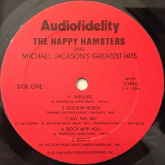 THE HAPPY HAMSTERS:THE HAPPY HAMSTERS SING MICHAEL JACSON'S GREATEST HITS(LABEL SIDE-A)